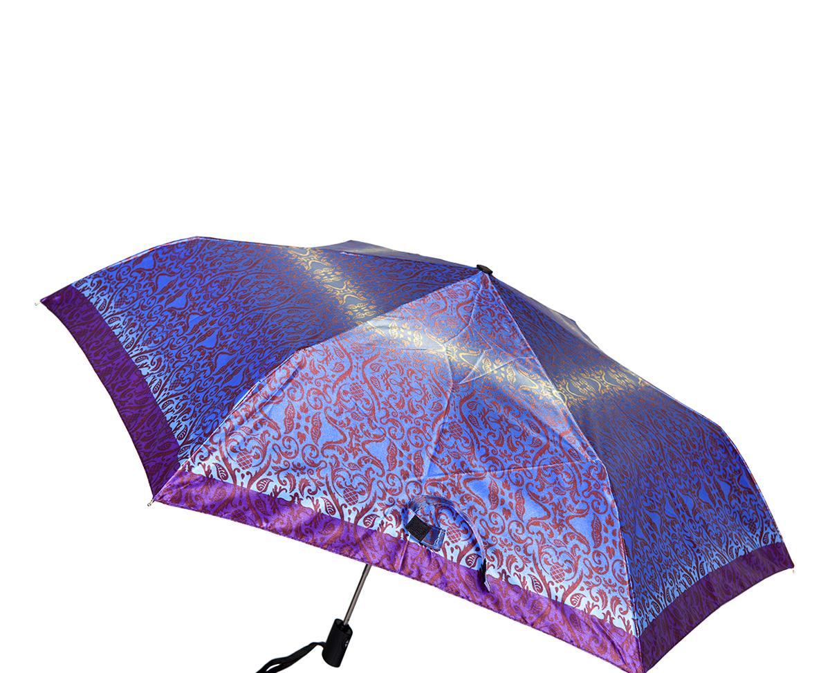 Зонт женский Labbra, автомат, 3 сложения, цвет: лиловый. A3-05-LR030A3-05-LR030Женский зонт-автомат торговой марки LABBRA. Купол: 100% полиэстер, сатин. Материал каркаса: сталь + алюминий + фибергласс. Материал ручки: пластик. Длина изделия - 28 см. Диаметр купола - 98 см.