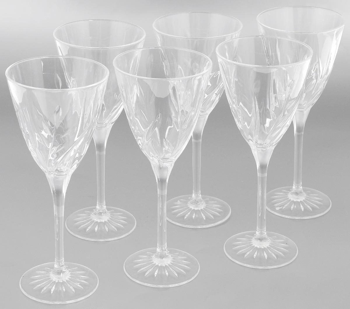Набор фужеров Cristal dArques Cassandra, 240 мл, 6 штG5634Набор Cristal dArques Cassandra состоит из шести фужеров, выполненных из прочного стекла. Изделия оснащены высокими ножками и предназначены для подачи различных напитков. Они сочетают в себе элегантный дизайн и функциональность. Благодаря такому набору пить напитки будет еще вкуснее. Набор фужеров Cristal dArques Cassandra прекрасно оформит праздничный стол и создаст приятную атмосферу за романтическим ужином. Такой набор также станет хорошим подарком к любому случаю. Диаметр фужера (по верхнему краю): 8,7 см. Диаметр основания: 7 см. Высота фужера: 21 см.