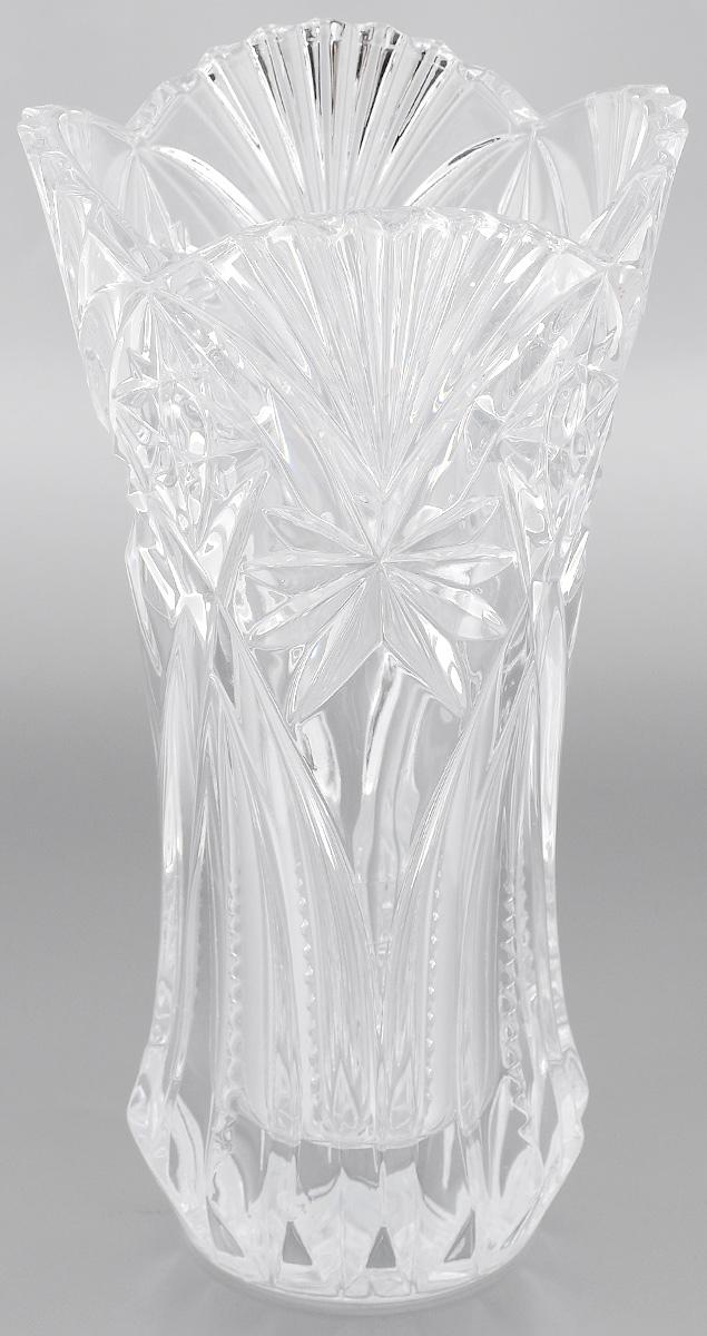 Ваза Cristal dArques Vincennes, высота 30 смG5576Ваза Cristal dArques Vincennes выполнена из прочного высококачественного стекла и декорирована рельефом. Она излучает приятный блеск и издает мелодичный звон. Ваза сочетает в себе изысканный дизайн с максимальной функциональностью. Ваза не только украсит дом и подчеркнет ваш прекрасный вкус, но и станет отличным подарком. Можно мыть в посудомоечной машине.