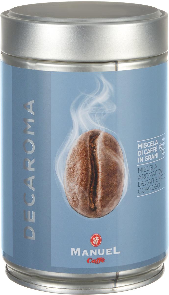 Manuel Decaroma кофе в зернах, 250 г (ж/б)8006536201159Великолепный кофе Manuel Decaroma с низким содержанием кофеина.