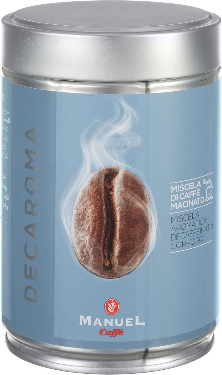 Manuel Decaroma кофе молотый, 250 г (ж/б)8006536201098Великолепный кофе с низким содержанием кофеина Manuel Decaroma.
