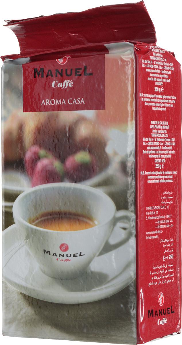 Manuel Aroma Casa кофе молотый, 250 г8006536000158Кофе Manuel Aroma Casa - это бленд классического итальянского эспрессо с содержанием арабики (60%) и робусты (40%). Арабика обжаривается отдельно от робусты, а затем они смешиваются в определенных пропорциях. Отдельная термообработка каждого сорта позволяет полностью раскрывать вкус напитка. Этот кофе безусловно понравится любителям настоящего итальянского эспрессо!
