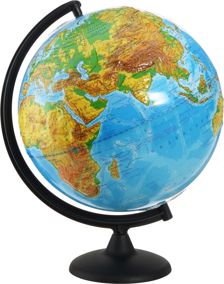 Глобусный мир Глобус с физической картой мира рельефный диаметр 32 см 10196