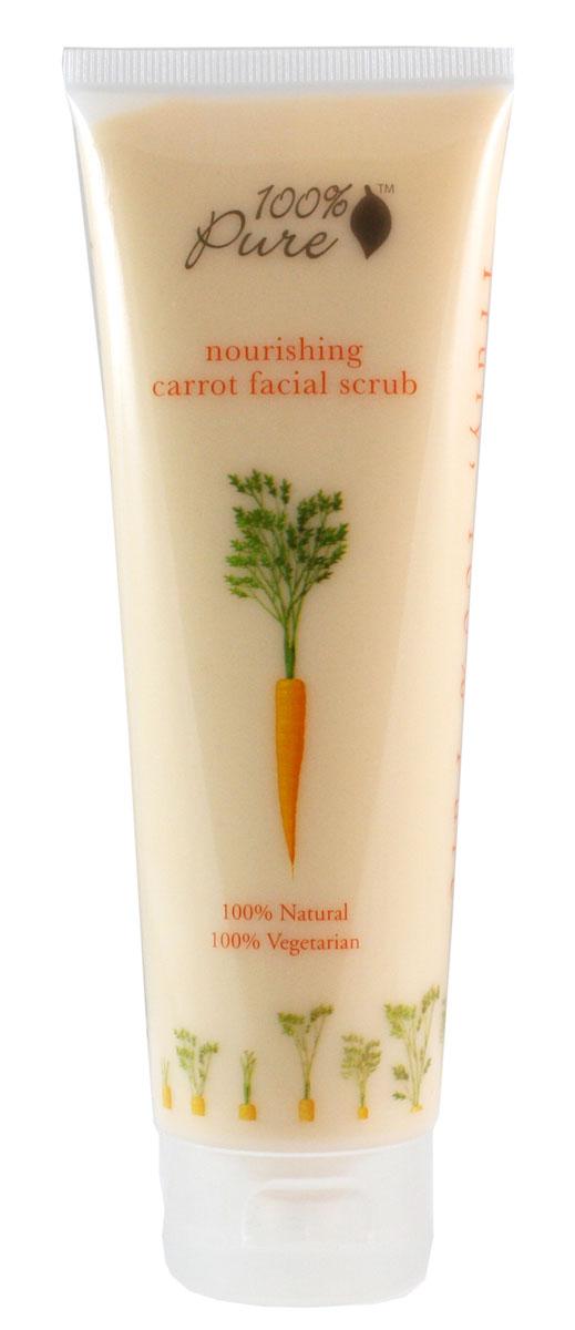 100% Pure Питательный скраб для лица Морковь 118 мл