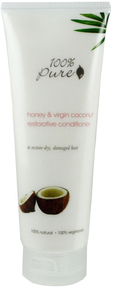 100% Pure Кондиционер для волос тонизирующий Мед и Молодой Кокос, 236 мл1HCCHVCR8ozМед и Молодой Кокос - тонизирующий кондиционер! Супер питательная формула дарит волосам глянцевый блеск, упругость и объем. Не содержат синтетических химических веществ, искусственных красителей, химических консервантов, сульфатов.