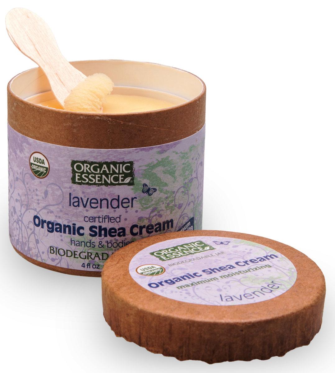 Organic Essence Органический крем Ши (Карите), Лаванда 114 г/118 млCCLAVUSDA Organic сертифицированный продукт. Интенсивное увлажнение. Подходит для ежедневного применения. В состав Органического крема Ши входит органическая лаванда, которая славится своими свойствами релаксации. Лаванда восстанавливает баланс кожи, что делает его идеальным для любого типа кожи. После нанесения средств, содержащих масло лаванды, мгновенно снимаются покраснения, отеки, шелушение, раздраженности, воспаления, приглушается зуд. Органический крем Ши лаванда идеально подходит для специального ухода за поврежденной или сверхчувствительной кожей, проявляет удивительные тонизирующие свойства для усталой и дряблой кожи. Снимая не только воспалительную сыпь, но и препятствуя росту бактерий, лавандовое масло при одновременном воздействии на уровень жировых выделений и нормализации обмена веществ идеально подходит для обработки прыщей. Лавандовое масло не является аллергенным. Лаванда помогает при расстройствах, вызванных стрессом, и бессоннице.