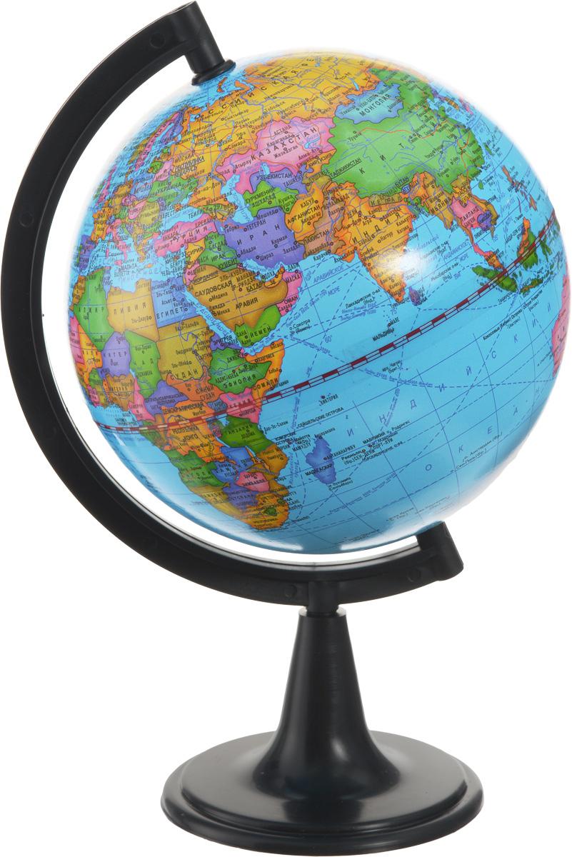 Глобусный мир Глобус с политической картой мира диаметр 15 см 1002010020Глобус Глобусный мир с политической картой мира, изготовленный из высококачественного прочного пластика, показывает страны мира, границы того или иного государства, расположение столиц государств, городов и населенных пунктов. Изделие расположено на черной пластиковой подставке. На глобусе отображены картографические линии: параллели и меридианы, а также градусы и условные обозначения. Все страны мира раскрашены в разные цвета. Глобус с политической картой мира станет незаменимым атрибутом обучения не только школьника, но и студента. Названия стран на глобусе приведены на русском языке. Настольный глобус Глобусный мир станет оригинальным украшением рабочего стола или вашего кабинета. Это изысканная вещь для стильного интерьера, которая станет прекрасным подарком для современного преуспевающего человека, следующего последним тенденциям моды и стремящегося к элегантности и комфорту в каждой детали. Масштаб: 1:84 000 000.