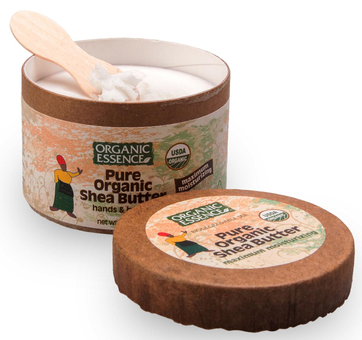 Organic Essence Чистое (100%) органическое масло Ши 57 гBCSHS100% органическое масло Ши произведено методом естественного холодного отжима из африканских орехов дерева Карите. Улучшает капиллярное кровообращение, является превосходным целителем и омолаживающим средством для проблемной, сухой или возрастной кожи. 100% органическое масло Ши Organic Essence с естественным ароматом, без каких либо отдушек. Необыкновенная польза продукта достигается за счёт высокого содержания стеариновой и олеиновой жирных кислот. Эти жирные кислоты, увлажняя кожу, помогают сохранить надолго её эластичность. В производстве масла Ши не используются растворители или любые химические вещества, помогая сохранить высокие стандарты чистоты продукта с добавлением знака Baby Safe. USDA Organic сертифицированный продукт.