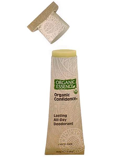 Organic Essence Органический дезодорант, Кокос-Ваниль 62 гDCCOCДезодорант Organic Essence - это уникальный и эффективный продукт. Органическое кокосовое масло одновременно борется с бактериями и смягчает кожу подмышек. Пищевая сода также нейтрализует бактерии, вызывающие неприятный запах и обеспечивает длительную работу дезодоранта в течение всего дня. Упаковка из картона полностью компостируется. Не содержат: ГМО, наночастицы, парабены, пропиленгликоль, синтетических красителей, ароматизаторов, алюминия, EDTA, триклозан и другие токсичные вещества. USDA сертифицированный органический продукт.