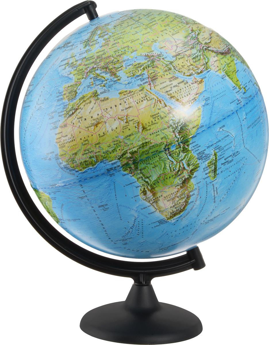 Глобусный мир Глобус ландшафтный диаметр 32 см10241Ландшафтный глобус Глобусный мир, изготовленный из высококачественного прочного пластика. Данная модель предназначена для ознакомления с особенностями ландшафта нашей планеты. Помимо этого ландшафтный глобус обладает приятной цветовой гаммой. Глобус дает представление о местоположении материков и океанов, а также можно увидеть крупнейшие населенные пункты, столицы государств, границы полярных владений Российской Федерации. Названия стран на глобусе приведены на русском языке. Настольный ландшафтный глобус Глобусный мир станет оригинальным украшением рабочего стола или вашего кабинета. Это изысканная вещь для стильного интерьера, которая станет прекрасным подарком для современного преуспевающего человека, следующего последним тенденциям моды и стремящегося к элегантности и комфорту в каждой детали. Масштаб: 1:60 000 000.
