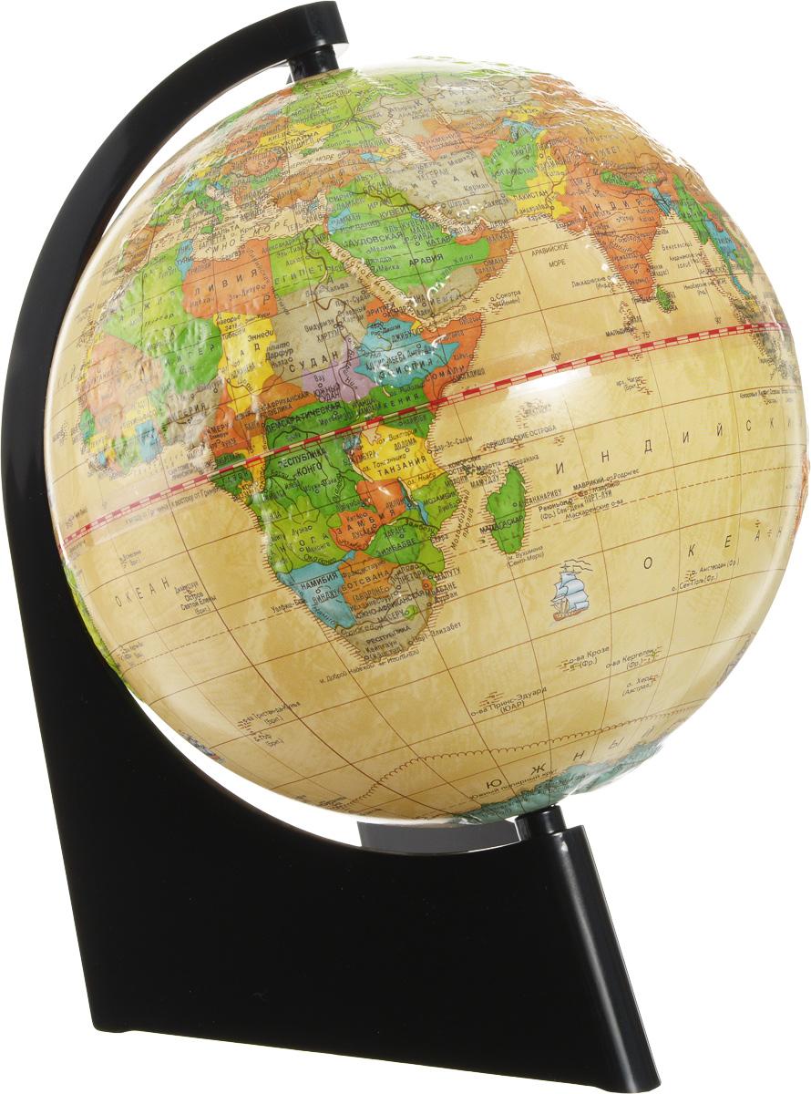 Глобусный мир Глобус с политической картой мира Ретро-Александр рельефный диаметр 21 см