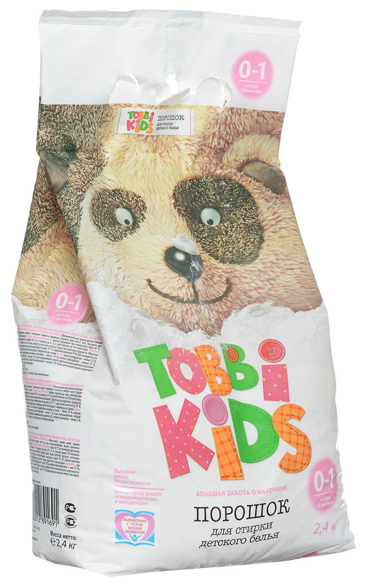 Tobbi Kids Стиральный порошок для детского белья от 0 до 12 месяцев 2,4 кг891691Стиральный порошок для детского белья Tobbi Kids изготовлен из натурального мыла, отлично справляющегося со следами от пюре и соков. Дети в возрасте от 0 до 12 месяцев имеют pH кожи, отличный от pH кожи детей старше года и взрослых, и их иммунная система особенно уязвима, именно поэтому малыши весьма чувствительны к аллергенам и активным веществам в составе стирального порошка. В этот период важно выбирать самые безопасные средства, ведь малышам не подходят взрослые порошки. Формула Tobbi Kids разработана с учетом рекомендаций педиатров, ее pH соответствует pH кожи ребенку до года, а безопасные активные компоненты отлично отстирывают все загрязнения и ухаживают за вещами малыша. Предназначен для стирки детского белья из хлопчатобумажных, льняных и смешанных тканей в стиральных машинах любого типа. Допускается применение для ручной стирки. Состав: мыло хозяйственное, неионогенное поверхностно-активное вещество, натрия перкарбонат, натрий...