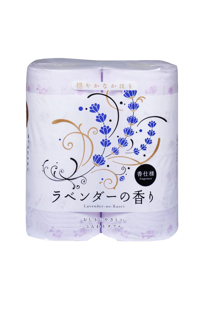 Парфюмированная туалетная бумага Shikoku Lavender-no-Kaori, 2-х слойная, 4 рулона311011, 11011Туалетная бумага Shikoku в данной серии представлена ароматом лаванды. По сравнению с синтетическим запахом обычной ароматизированной бумаги, ароматы Shikoku Tokushi – природные, изысканные и утонченные. / Также при производстве бумаги используется 100% целлюлоза, которая прошла тщательный отбор и особую обработку, а многолетний опыт сотрудников копании гарантирует высокое качество туалетной бумаги Shikoku Tokushi. / Туалетная бумага Shikoku мгновенно впитывает даже большое количество воды, поскольку между слоями бумаги есть воздушное пространство, что позволяет сократить объемы используемой бумаги на треть, а глубокие линии тиснения обеспечивают надежное соединение слоев и прочность бумаги. / Туалетная бумага Shikoku изготовлена из природных материалов и воды из источников Ниёдогава. / Состав: натуральная 100% целлюлоза. / Срок годности не ограничен.