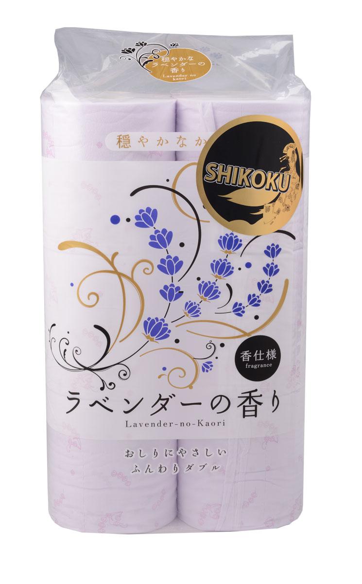Парфюмированная туалетная бумага Shikoku Lavender-no-Kaori, 2-х слойная, 12 рулонов20808Туалетная бумага Shikoku в данной серии представлена ароматом лаванды. / По сравнению с синтетическим запахом обычной ароматизированной бумаги, ароматы Shikoku Tokushi природные, изысканные и утонченные. / Также при производстве бумаги используется 100% целлюлоза, которая прошла тщательный отбор и особую обработку, а многолетний опыт сотрудников копании гарантирует высокое качество туалетной бумаги Shikoku Tokushi. / Туалетная бумага Shikoku мгновенно впитывает даже большое количество воды, поскольку между слоями бумаги есть воздушное пространство, что позволяет сократить объемы используемой бумаги на треть, а глубокие линии тиснения обеспечивают надежное соединение слоев и прочность бумаги. / Туалетная бумага Shikoku изготовлена из природных материалов и воды из источников Ниёдогава. / Состав: натуральная 100% целлюлоза. / Срок годности не ограничен.