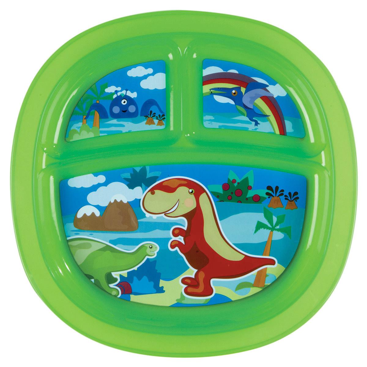 Munchkin Тарелка детская с разделителями цвет зеленый11396_зеленыйДетская тарелка Munchkin прекрасно подойдет для кормления малыша и самостоятельного приема им пищи. Прекрасно подойдет для кормления малыша от 6 месяцев. Она выполнена из прочного безопасного пластика, не содержащего бисфенол А и фталаты. Тарелка разделена на три секции, которые не позволят еде смешиваться. На дне имеются прорезиненные вставки, предохраняющие ее от скольжения. Детская тарелка подходит для использования в микроволновой печи. Можно мыть на верхней полке в посудомоечной машине. Кредо Munchkin, американской компании с 20- летней историей: избавить мир от надоевших и прозаических товаров, искать умные инновационные решения, которые превращают обыденные задачи в опыт, приносящий удовольствие. Понимая, что наибольшее значение в быту имеют именно мелочи, компания создает уникальные товары, которые помогают поддерживать порядок, организовывать пространство, облегчают уход за детьми - недаром компания имеет уже более 140 патентов и...