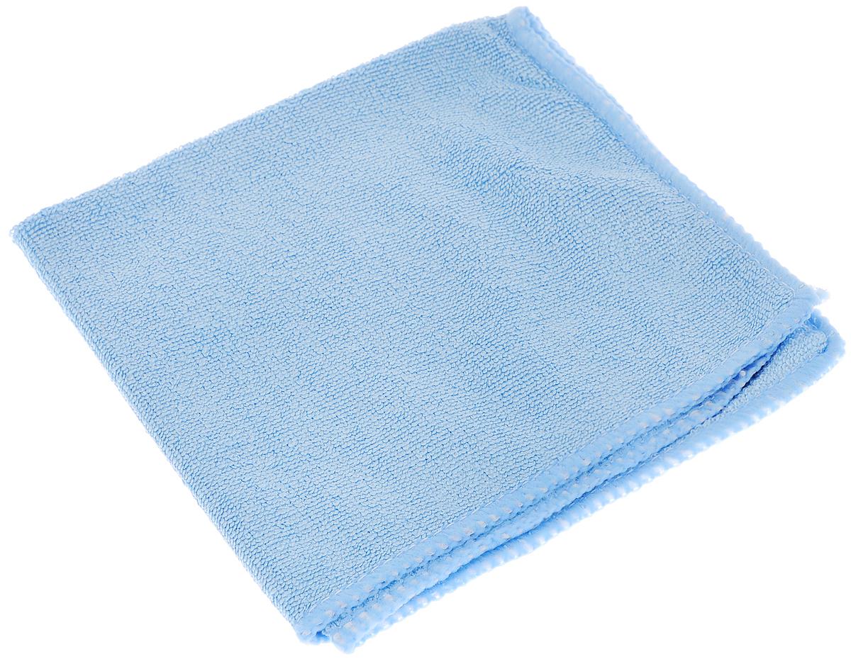 Салфетка из микрофибры для уборки Youll Love, цвет: голубой, 30 х 30 см. 5804458044_голубойСалфетка Youll Love, изготовленная из микрофибры (70% полиэфир и 30%полиамид), предназначена для очищения загрязнений на любых поверхностях. Изделие обладает высокой износоустойчивостью и рассчитано на многократное использование, легко моется в теплой воде с мягкими чистящими средствами. Супервпитывающая салфетка не оставляет разводов и ворсинок, удаляет большинство жирных и маслянистых загрязнений без использования химических средств.