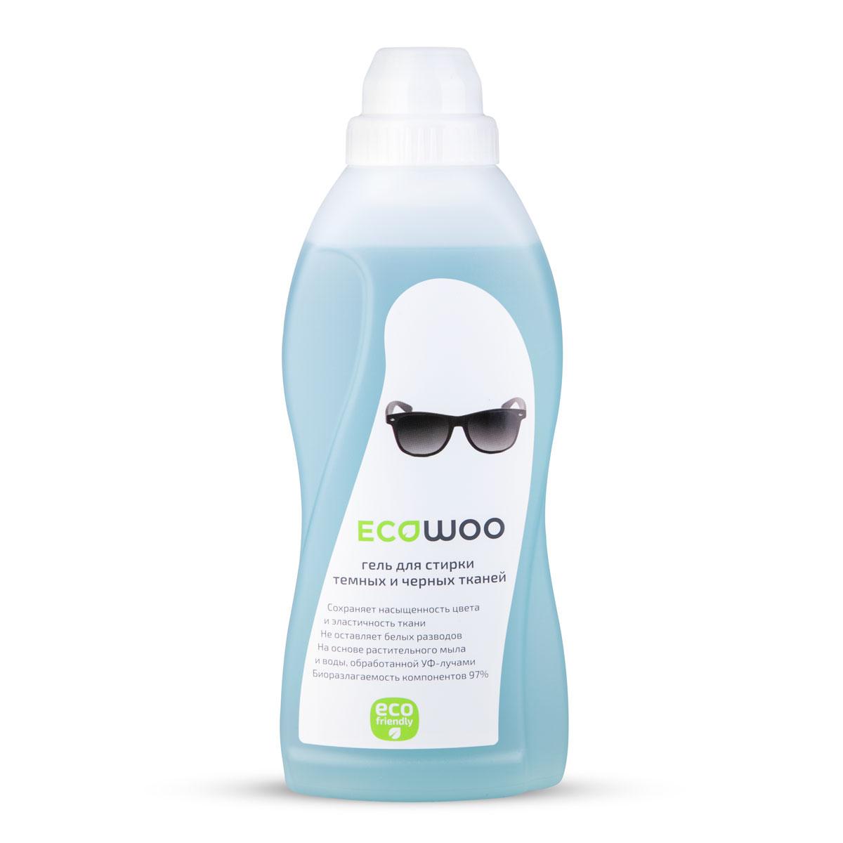Гель EcoWoo для стирки темных и черных тканей, 0,7 лЕ088170Сохраняет насыщенность цвета и эластичность ткани. Не оставляет белых разводов. На основе растительного мыла и воды, обработанной Уф- лучами. Биоразлагаемость компонентов 97%. Система контроля цвета ECOWOO предупреждает осветление темных тканей и помогает сохранить всю глубину цвета.