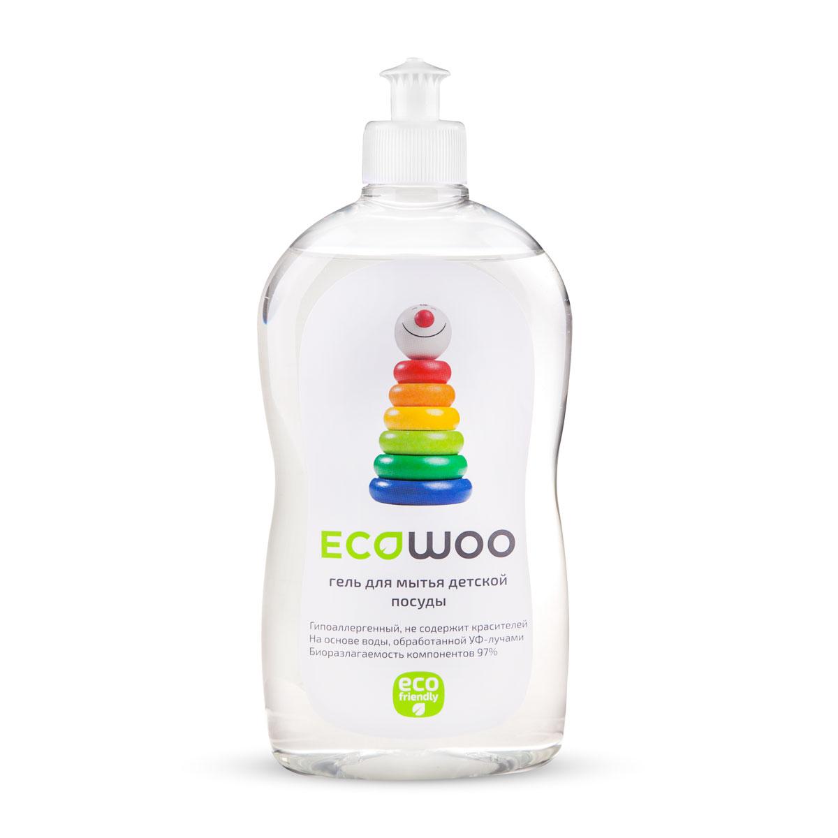 Гель EcoWoo для мытья овощей и фруктов, детской посуды и принадлежностей, 0,5 лЕ088231Специально разработан для мытья всех видов детской посуды, бутылочек, сосок из латекса и силикона, игрушек, любых детских принадлежностей, а также овощей и фруктов. Средство гипоаллергенно, не содержит ароматизаторов и красителя. Легко удаляет остатки продуктов. Полностью смывается водой со всех видов посуды и игрушек (в том числе холодной и жесткой). Очищает овощи и фрукты от воскового покрытия, смывает пестициды, гербициды, инсектициды с кожуры овощей и фруктов. Средство безвредно для человека и природы – биоразлагаемость компонентов 97% Подходит для людей с чувствительной кожей.