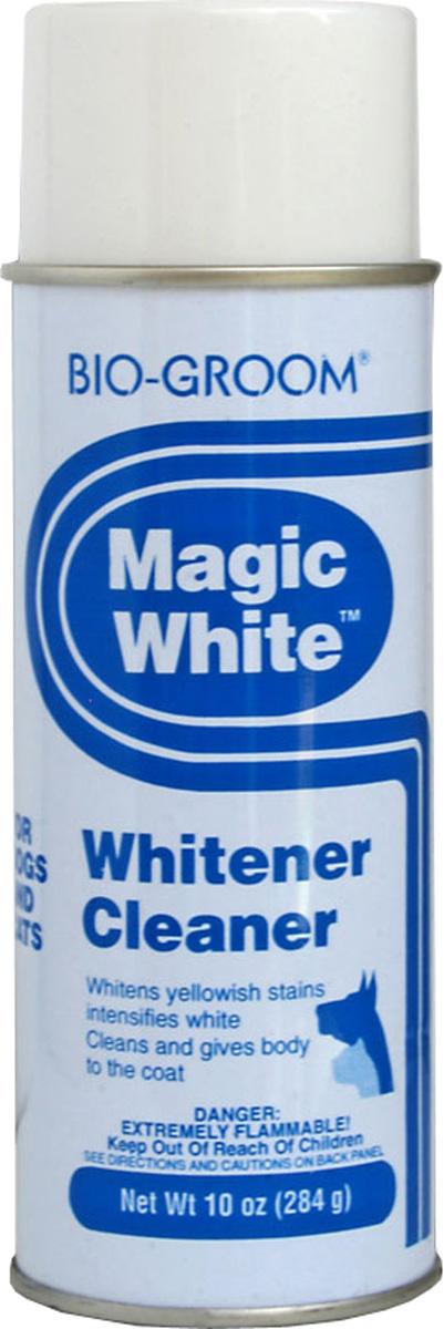 Белый выставочный спрей-мелокBio-Groom Magic White 284 г51714Bio-Groom Magic White отбеливающий спрей для кошек и собак. Мелок в виде аэрозоля легко распыляется по шерсти животного, прекрасно отбеливая её и маскируя пятна, а также придаёт шерсти дополнительный объём. Входящие в состав компоненты не токсичны и содержат парфюмерные масла, которые придают коже животного приятный запах. Инструкция по применению: Перед использованием хорошенько встряхнуть (15-20 сек.) Если флакон долго стоял ( особенно при низких температурах) увеличить время встряхивание в 4-5 раз. Распылить на шерсть, дать высохнуть, удалить остатки щеткой. Предохранять от попадания в глаза. После применения, перевернуть флакон и распылять 2-3 сек для прочистки клапана. Если клапан засорен, следует его снять и прочистить. Не использовать вблизи открытого огня. Не брызгать в глаза. Не вскрывать – балон под давлением! Масса 284 г.