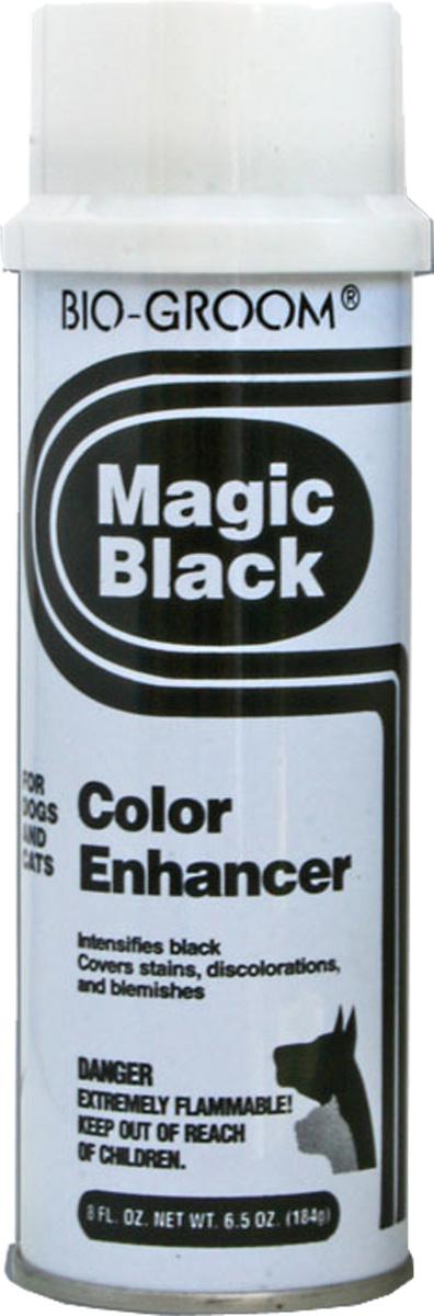 Черный выставочный спрей-мелок Bio-Groom Magic Black 184 г51908Bio-Groom Magic Black чёрная выставочная пенка для кошек и собак. Чёрный выставочный мелок в спрее поможет быстро замаскировать пятна, незначительные цветовые дефекты шерсти и кожи, а также добавит интенсивность чёрному окрасу животных. После применения рекомендуется смывать любым шампунем из серии Bio-Groom. Масса 184 г.