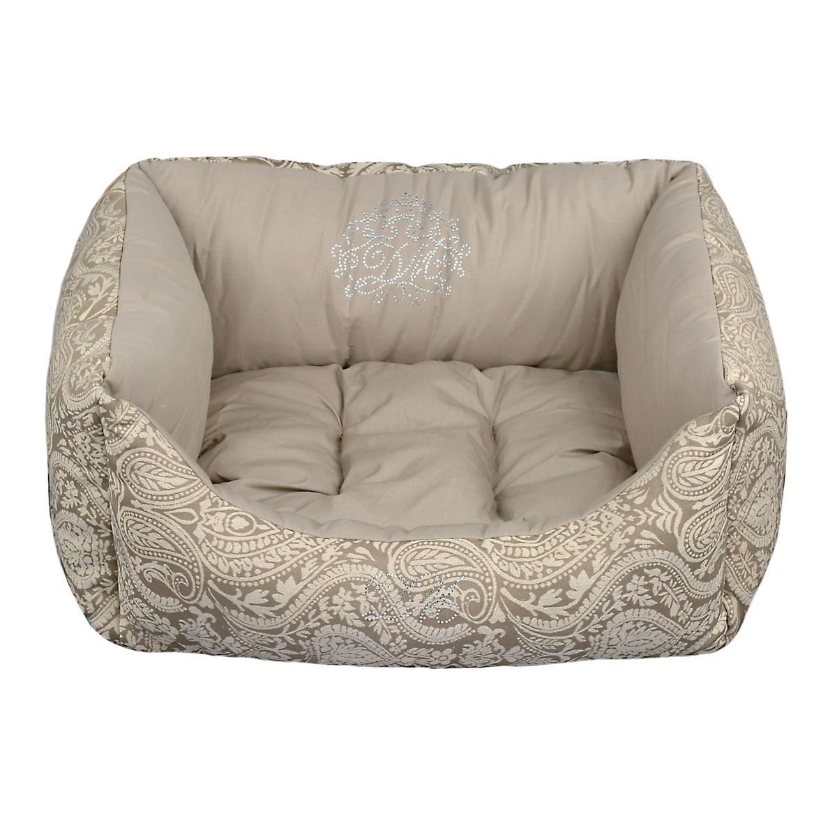 Лежак Dogmoda Элегант для собакиDM-150354Элегантный и уютный лежак, выполенный из высококлассных материалов, дополнит или подчеркнет Ваш интерьер и станет любимым место отдыха для Вашего питомца.