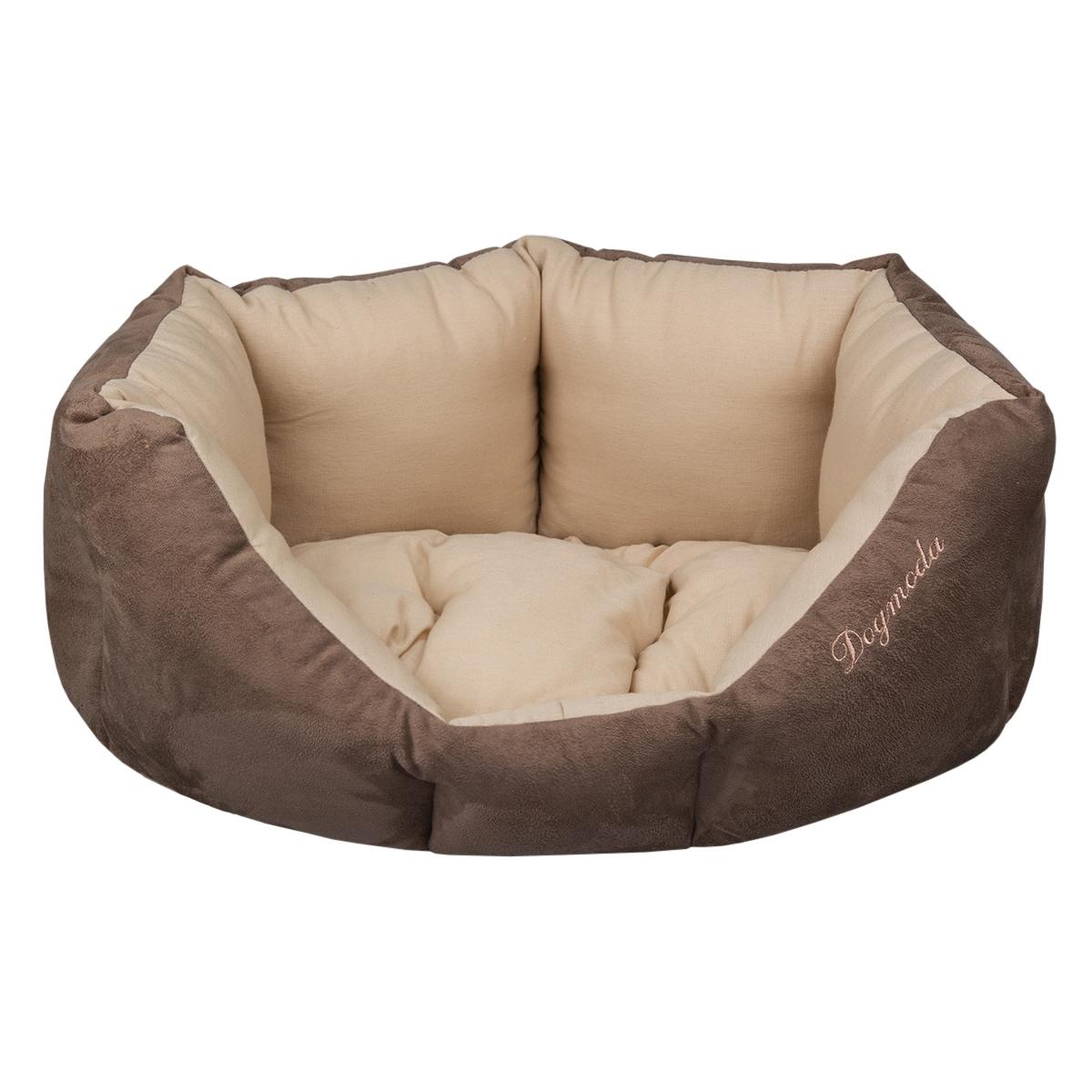 Лежак для животных Dogmoda Капучино, 44 х 52 х 22 смDM-160110Лежак для животных Dogmoda Капучино прекрасно подойдет для отдыха вашего домашнего питомца. Предназначен для кошек и собак мелких и средних пород. Изделие выполнено из искусственной замши и хлопка. Внутри - мягкий наполнитель из холлофайбера, который обеспечивает комфорт и уют. Лежак снабжен съемной подушкой. Комфортный и уютный лежак обязательно понравится вашему питомцу, животное сможет там отдохнуть и выспаться. Высокий уровень комфорта, спокойный благородный цвет и мягкость искусственной замши сделают этот лежак любимым местом отдыха вашего питомца.