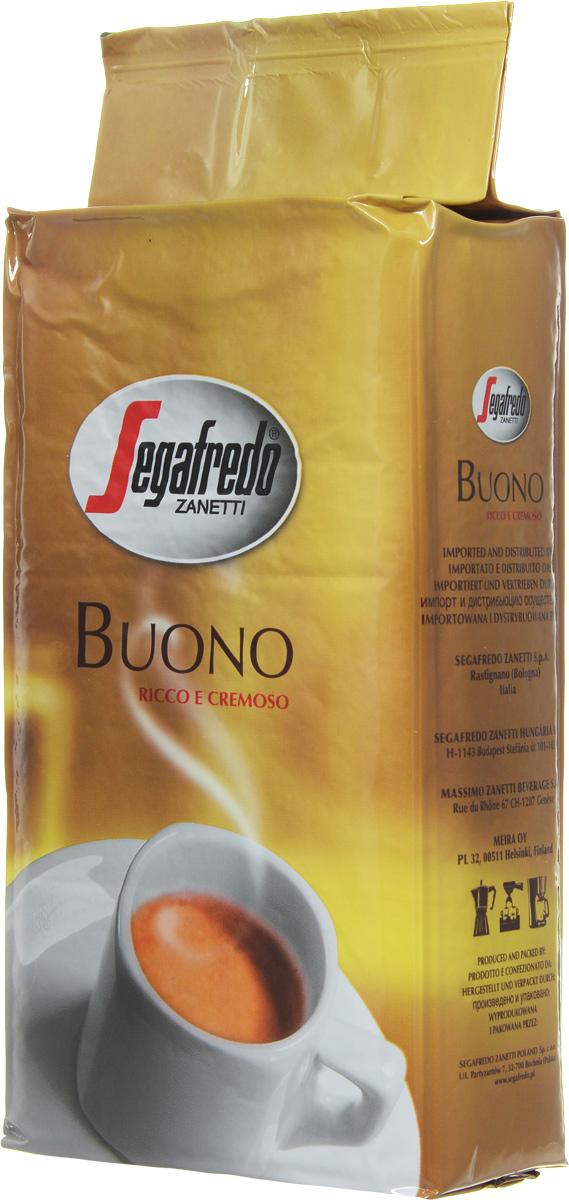 Segafredo Buono кофе молотый, 250 г200.001.057Кофе Buono New - это тщательно отобранная смесь зерен Арабики и Робусты из Южной Америки и Азии, что придает напитку богатый и сливочный вкус. Новое качество в улучшенной упаковке.