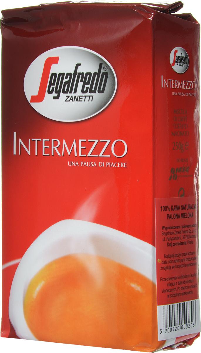 Segafredo Intermezzo кофе молотый, 250 г200.001.064Segafredo Intermezzo - это характерное для кофе сочетание полноты вкуса и энергии, что делает каждый момент дня более приятным, от утреннего завтрака до перерыва, во время которого вы можете насладиться этим качественным кофе.