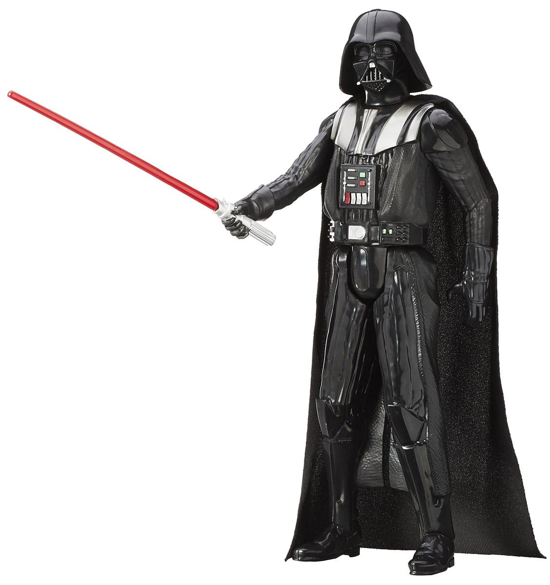 Star Wars Фигурка Darth Vader высота 29 смB3908_B3909Фигурка Star Wars Darth Vader порадует всех поклонников фантастической саги Звездные Войны. Фигурка, созданная в виде героя Дарт Вейдера, выполнена из пластика и проработана до мельчайших деталей. Конечности фигурки подвижны: поворачивается голова, руки и ноги двигаются. Все это сделает игру реалистичной и разнообразной. Такая фигурка непременно понравится поклоннику Звездных войн и станет замечательным украшением любой коллекции. В наборе фигурка и оружие.