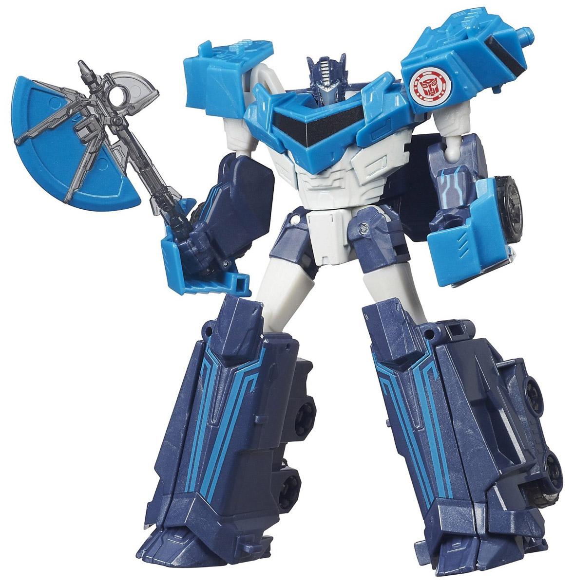 Transformers Трансформер Blizzard Strike Optimus PrimeB0070_B4685Трансформер Transformers Blizzard Strike Optimus Prime обязательно привлечет внимание всех юных поклонников знаменитых Трансформеров! Фигурка выполнена из прочного пластика в виде трансформера- Оптимуса Прайма. Путь Оптимуса Прайма лежал через великие битвы против врага, который угрожает не только родной планете Трансформеров, но и всей вселенной. Мегатрон со своей безумной жаждой к власти желает не просто захватить все планеты во вселенной, но и сделать рабами каждое живое создание, и каждый, кто пойдет против него будет уничтожен как его армией Десептиконов и лично им. Он жесток, и может расправиться за не выполнение приказа с собственными солдатами, давая понять остальным, что он не потерпит, чтобы кто-то его ослушался. Всего один заряд из его сверхмощного орудия может, уничтожить десятки вражеских бойцов, оставляя от тех всего лишь пыль. И не каждый осмелится выступить против такого орудия, даже самые храбрые из Десептиконов с трепетом вспоминают мощь орудия Оптимуса Прайма....