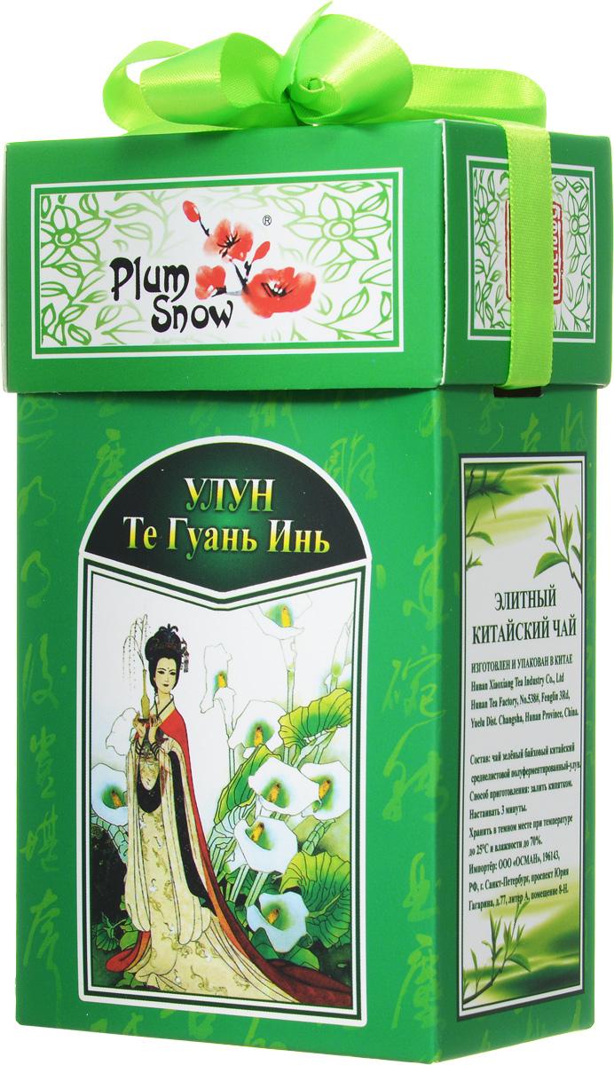 Plum Snow Улун Те Гуань Инь листовой чай, 100 гPS114Plum Snow Улун Те Гуань Инь - байховый китайский среднелистовой чай - улун высшего сорта. Настоящий подарок для истинных ценителей чая и восточных традиций.