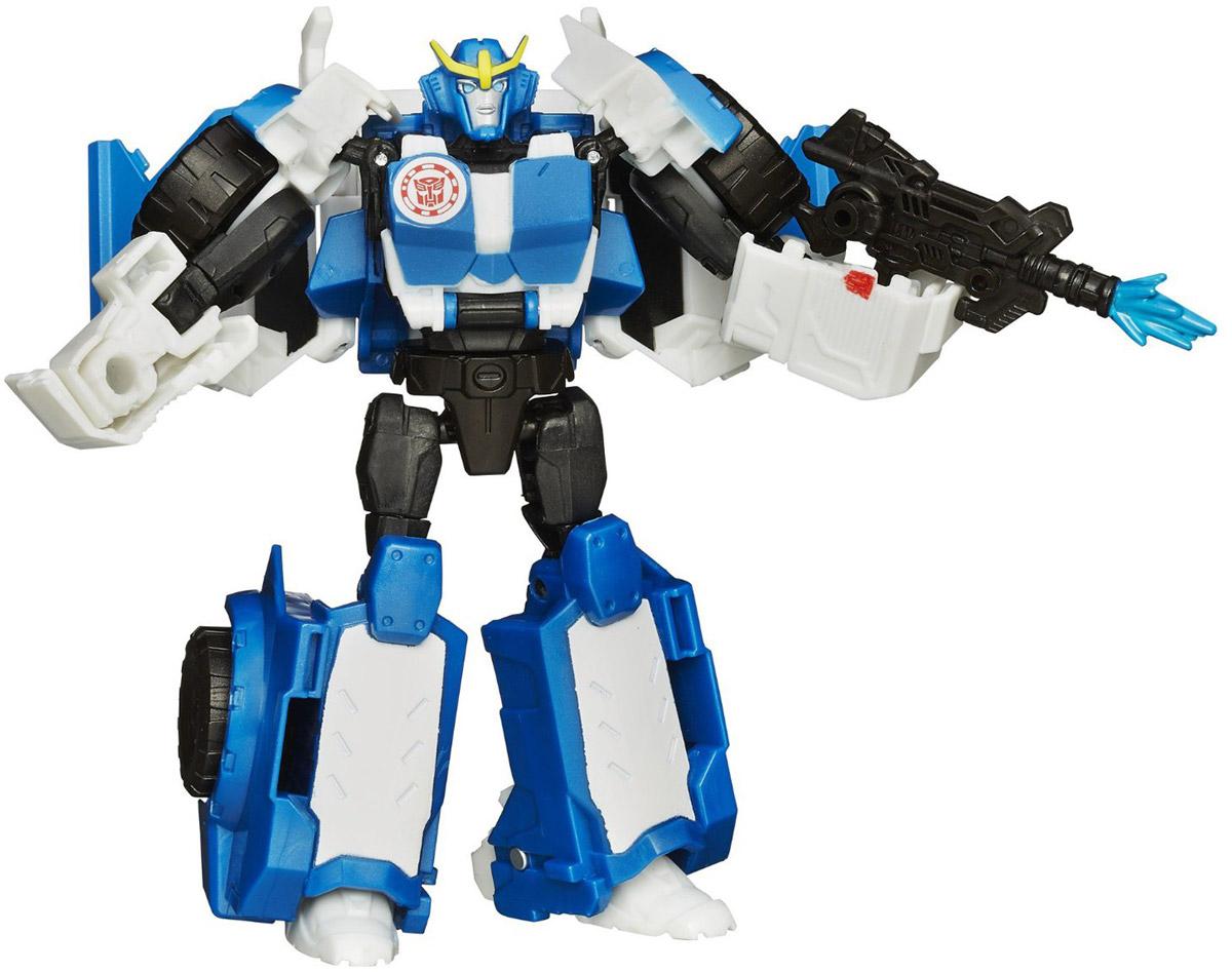 Transformers Трансформер StrongarmB0070_B0910Трансформер Strongarm обязательно понравится любому маленькому поклоннику знаменитых Трансформеров! Фигурка выполнена из прочного пластика в виде трансформера-автобота Стронгарма. Руки и ноги робота подвижны. В несколько простых шагов малыш сможет трансформировать фигурку робота в полицейский автомобиль. Фигурка отличается высокой степенью детализации. Небольшие размеры фигурки позволят брать ее с собой на прогулку или в гости. Ребенок с удовольствием будет играть с фигуркой, придумывая разные истории. Порадуйте его таким замечательным подарком!