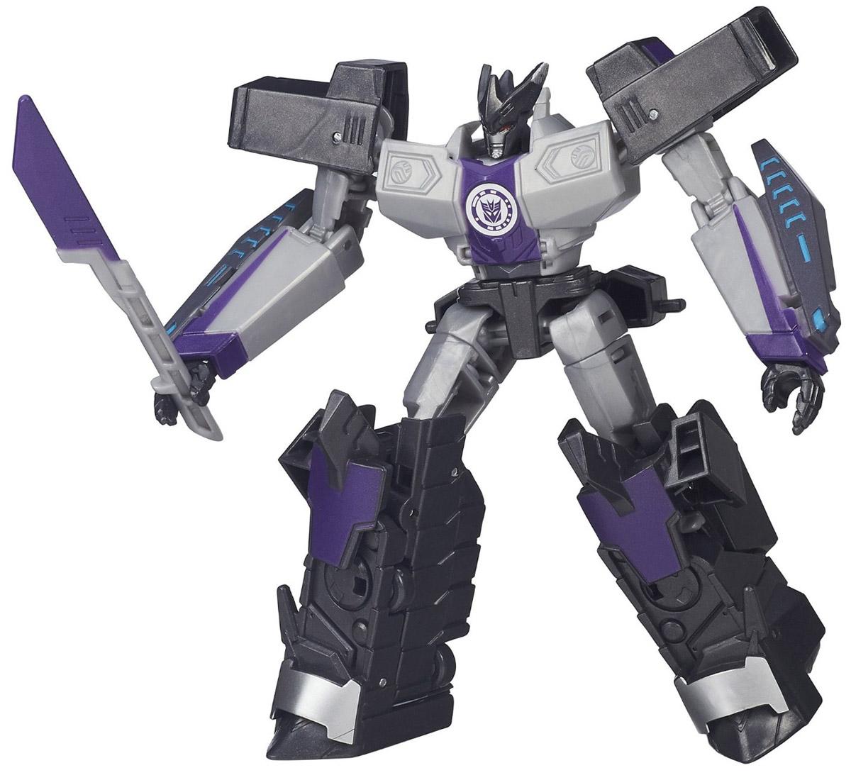 Transformers Трансформер MegatronusB0070_B4687Трансформер Transformers Megatronus непременно понравится всем юным поклонникам знаменитых Трансформеров! Фигурка выполнена из прочного пластика в виде трансформера-Мегатронуса. Руки и ноги робота подвижны. В несколько простых шагов малыш сможет трансформировать фигурку робота в транспортное средство. Ребенок с удовольствием будет играть с фигуркой, придумывая разные истории. Порадуйте его таким замечательным подарком! Соберите свою непобедимую команду трансформеров!