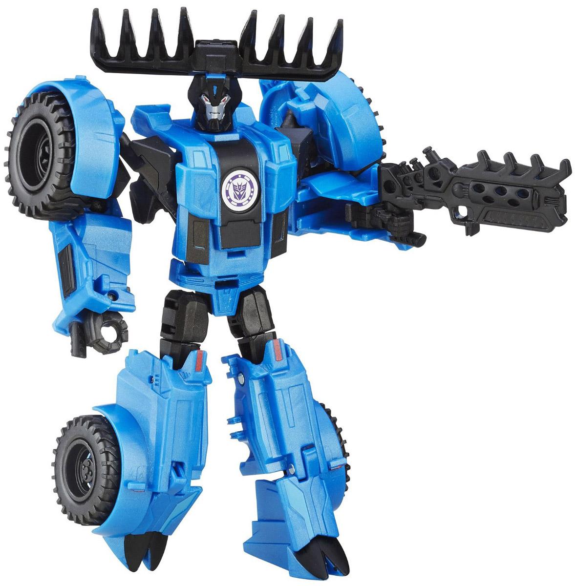 Transformers Трансформер ThunderhoofB0070_B5596Трансформер Transformers Thunderhoof обязательно привлечет внимание всех юных поклонников знаменитых Трансформеров! Фигурка выполнена из прочного пластика в виде трансформера-Thunderhoof. Руки и ноги робота подвижны. В несколько простых шагов малыш сможет трансформировать фигурку робота в полноценную машину с двигающимися колесами. Ребенок с удовольствием будет играть с фигуркой, придумывая разные истории. Порадуйте его таким замечательным подарком! Соберите свою непобедимую команду трансформеров!