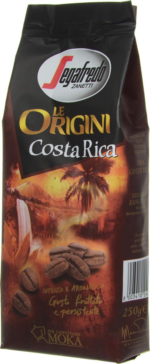 Segafredo Le Origini Costa Riсa кофе молотый, 250 г401.001.022Кофе Segafredo Le Origini Costa Riсa обладает долгим фруктовым послевкусием. Это тропический кофе, произрастающий среди пышной растительности Коста-Рики. Насыщенный букет и гармоничное фруктовое послевкусие с элегантными легкими нотками ликера.