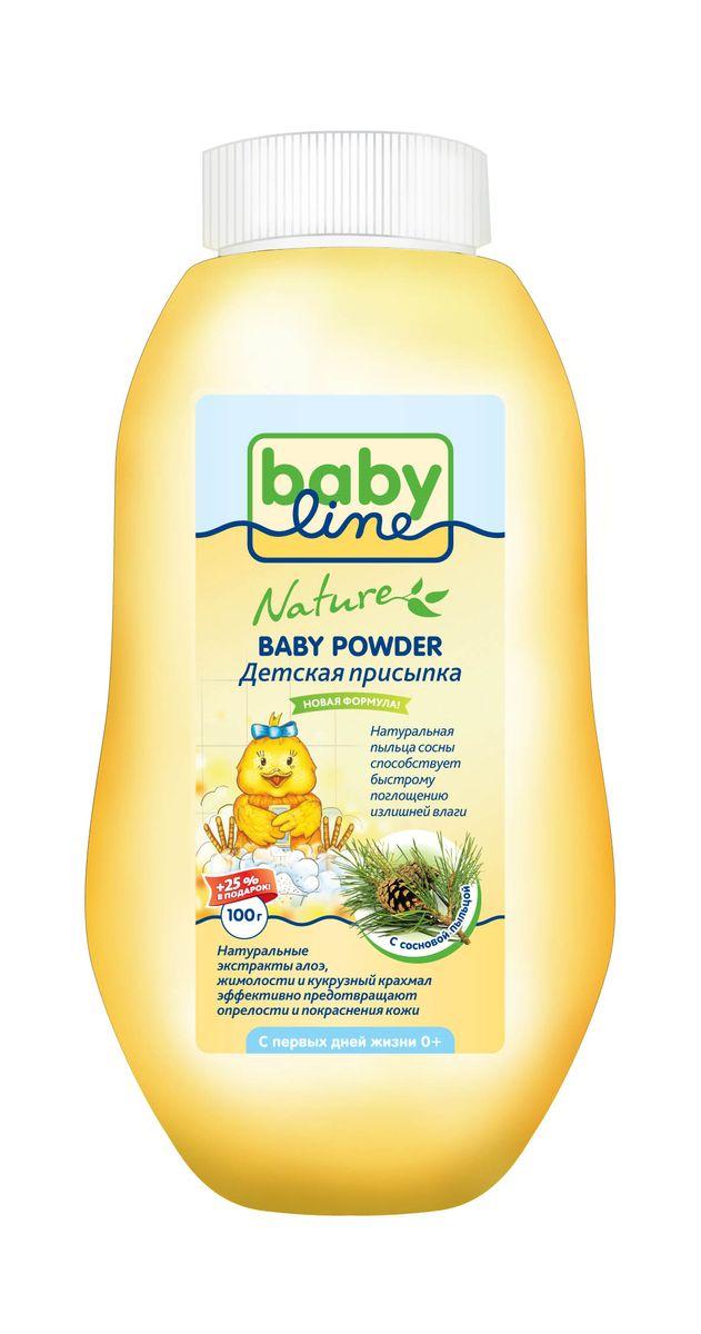 BabyLine Nature Присыпка детская с сосновой пыльцой 125 гDN 81Детская присыпка с сосновой пыльцой BabyLine Nature рекомендована для чувствительной кожи в области подгузника. Присыпка содержит натуральную пыльцу сосны, что способствует быстрому поглощению влаги. Натуральные экстракты алоэ, жимолости и кукурузный крахмал мягко заботятся и предотвращают опрелости и покраснения кожи. Товар сертифицирован.