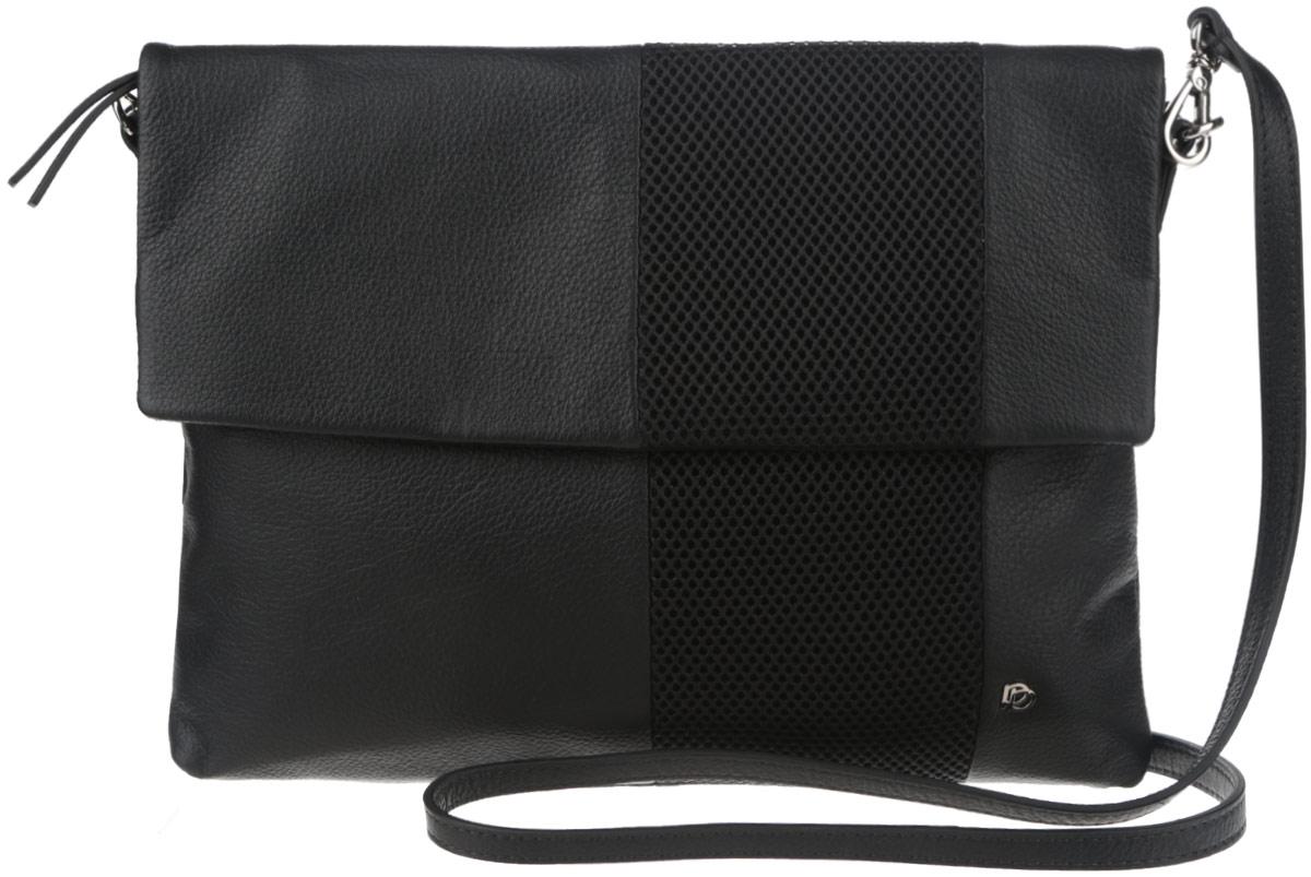 Сумка женская Pimo Betti, цвет: черный. 13831BR-W113831BR-W1Стильная женская сумка Pimo Betti выполнена из натуральной кожи с зернистой фактурой, оформлена текстильной вставкой и металлической фурнитурой с символикой бренда. Изделие содержит одно вместительное отделение, закрывающееся на застежку-молнию и дополнительно клапаном на магнитную кнопку. Внутри сумки расположены два накладных кармашка для мелочей и врезной карман на застежке-молнии. Задняя сторона сумки дополнена врезным карманом на молнии. Изделие оснащено съемным плечевым ремнем регулируемой длины. Оригинальный аксессуар позволит вам завершить образ и быть неотразимой.