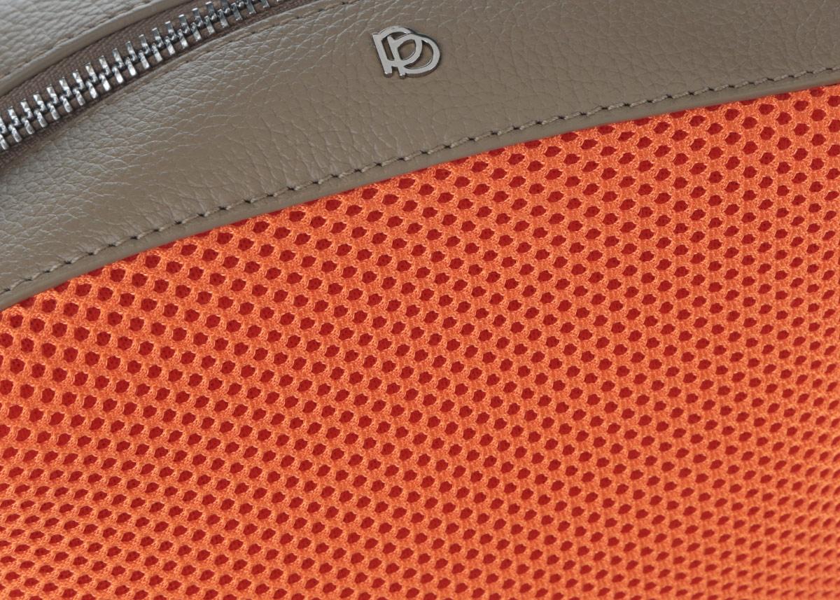 Сумка женская Pimo Betti, цвет: оранжевый, серо-коричневый. 14759B-W1