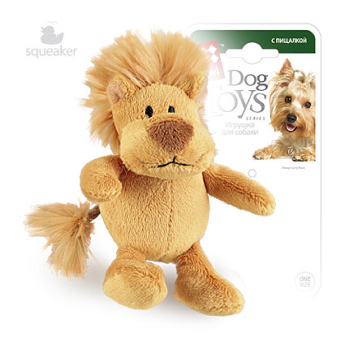Игрушка для собак GiGwi Лев с пищалкой, 10 см75103Лев с пищалкой. Размер: 10 см. Искусственный мех.