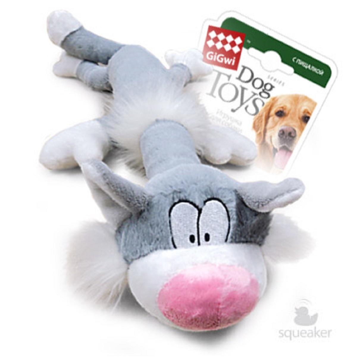 Игрушка для собак GiGwi Кот с пищалкой, 63 см75227Кот с пищалками. Размер: 63 см. Искусственный мех.