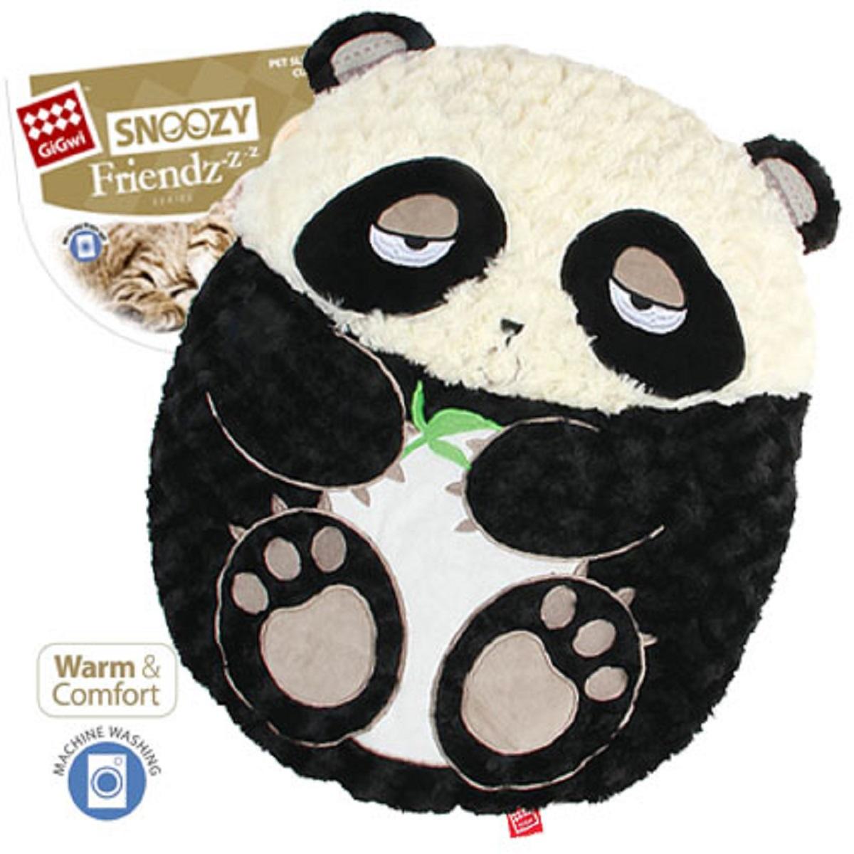 Лежанка с дизайном GiGwi Панда 57 см75313Лежанка Панда для кошек и небольших собак. Искуственный мех, внутри синтеповая набивка. Удобно для размещения на диванах и креслах.
