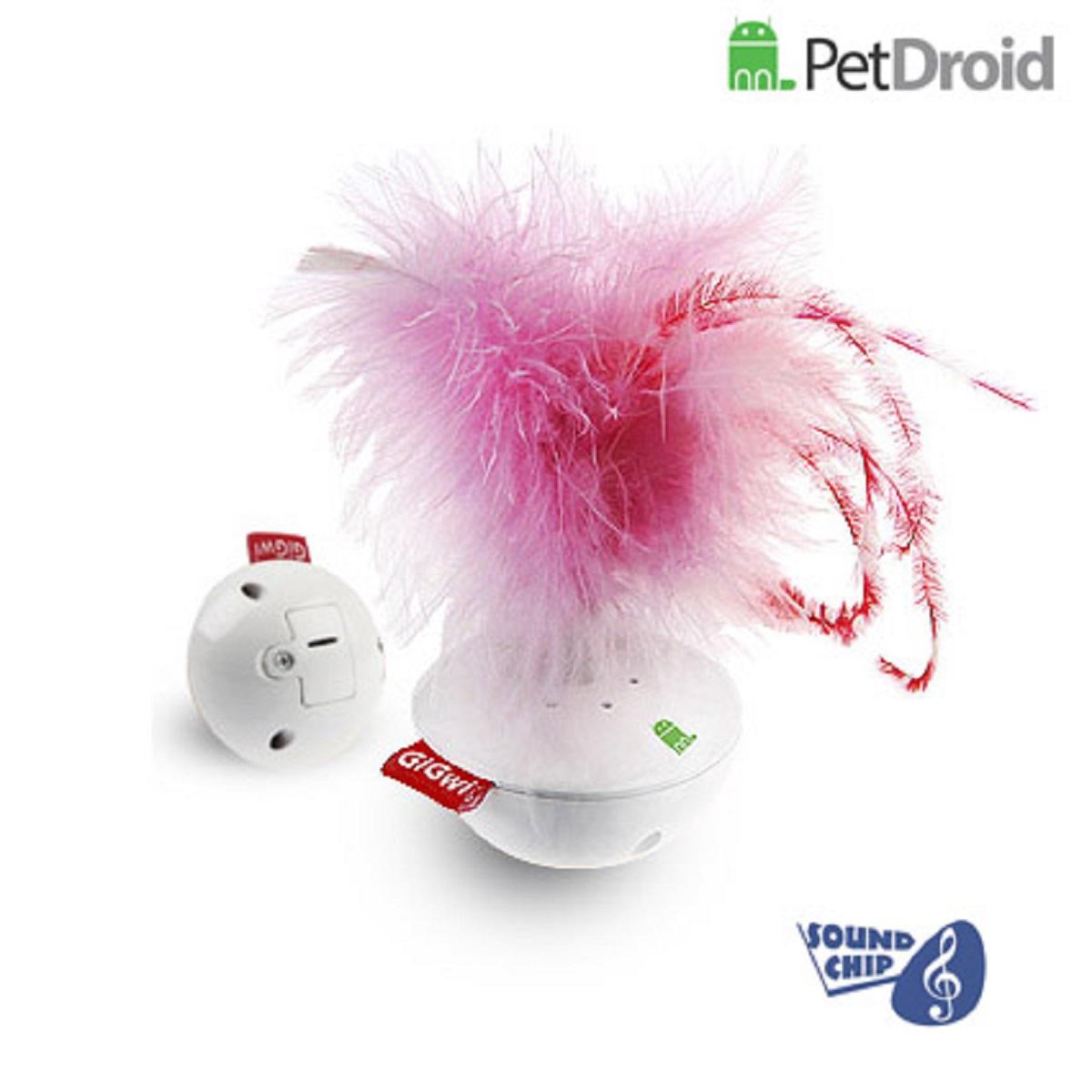 Электронная игрушка для кошек GiGwi Pet Droid Фезер Воблер75315Интерактивная игрушка-неваляшка с звуковым чипом для кошек. При касании лапами игрушка издает звуки похожие на чириканье птиц. Размер 14 см.