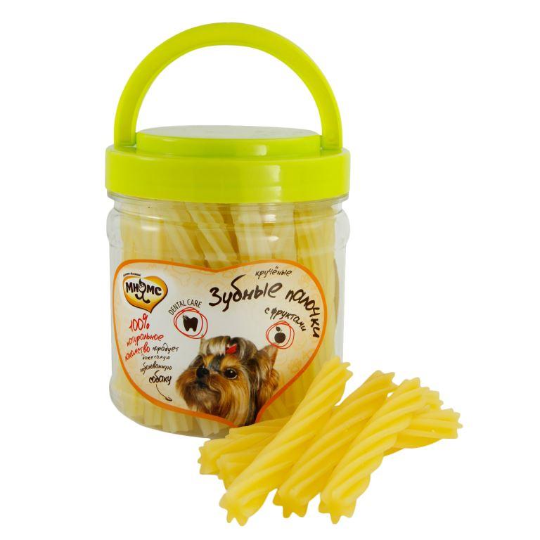 Лакомство для собак Мнямс крученые зубные палочки с фруктами 340 г 701856