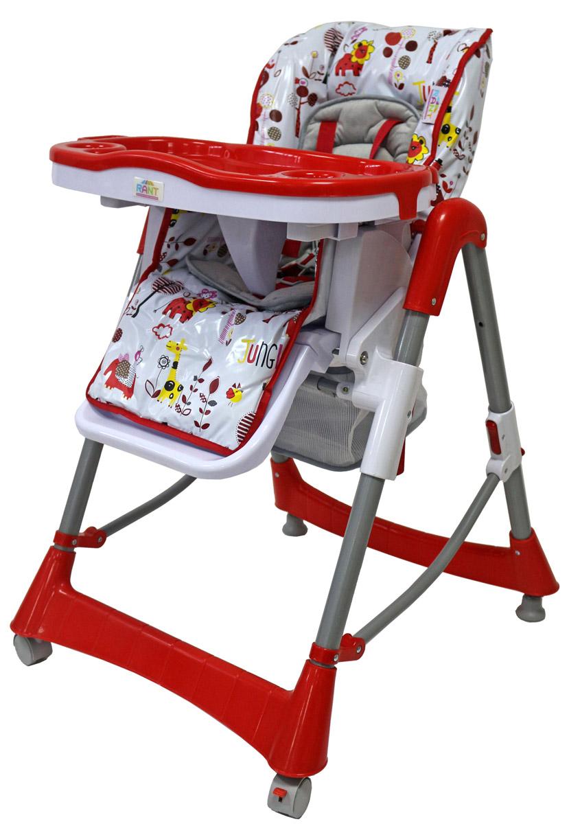 Rant Стульчик для кормления Львенок цвет красный4630008874813Стульчик для кормления Rant Львенок - удобный и функциональный стульчик с ярким запоминающимся дизайном для детей от шести месяцев до трех лет. Спинка стульчика регулируется в трех положениях. Стульчик имеет шесть уровней сиденья по высоте. Мягкий текстильный вкладыш на сиденье. Пятиточечные ремни безопасности. Удобная подставка для ножек. Съемная и регулируемая двойная столешница (с разъемами для бутылочек). Пластиковый поднос можно легко снять и помыть. 2 колеса с фиксатором. Имеется корзина для игрушек. Для удобства хранения столешницу можно установить на задней опоре стульчика. Удобный механизм складывания для вертикального хранения.