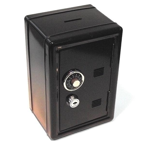 Копилка Эврика Сейф, с ключом, цвет: черный, 12 х 17,5 х 10 см92831Оригинальная копилка Эврика Сейф, выполненная из металла и оснащенная двумя замками (кодовый и обычный), позволит вам скопить приличную сумму, например на поездку, отдых или давно желанную покупку. Внутри есть ящичек для мелочи. Кодовый замок открывается поворотом ручки в любую сторону.