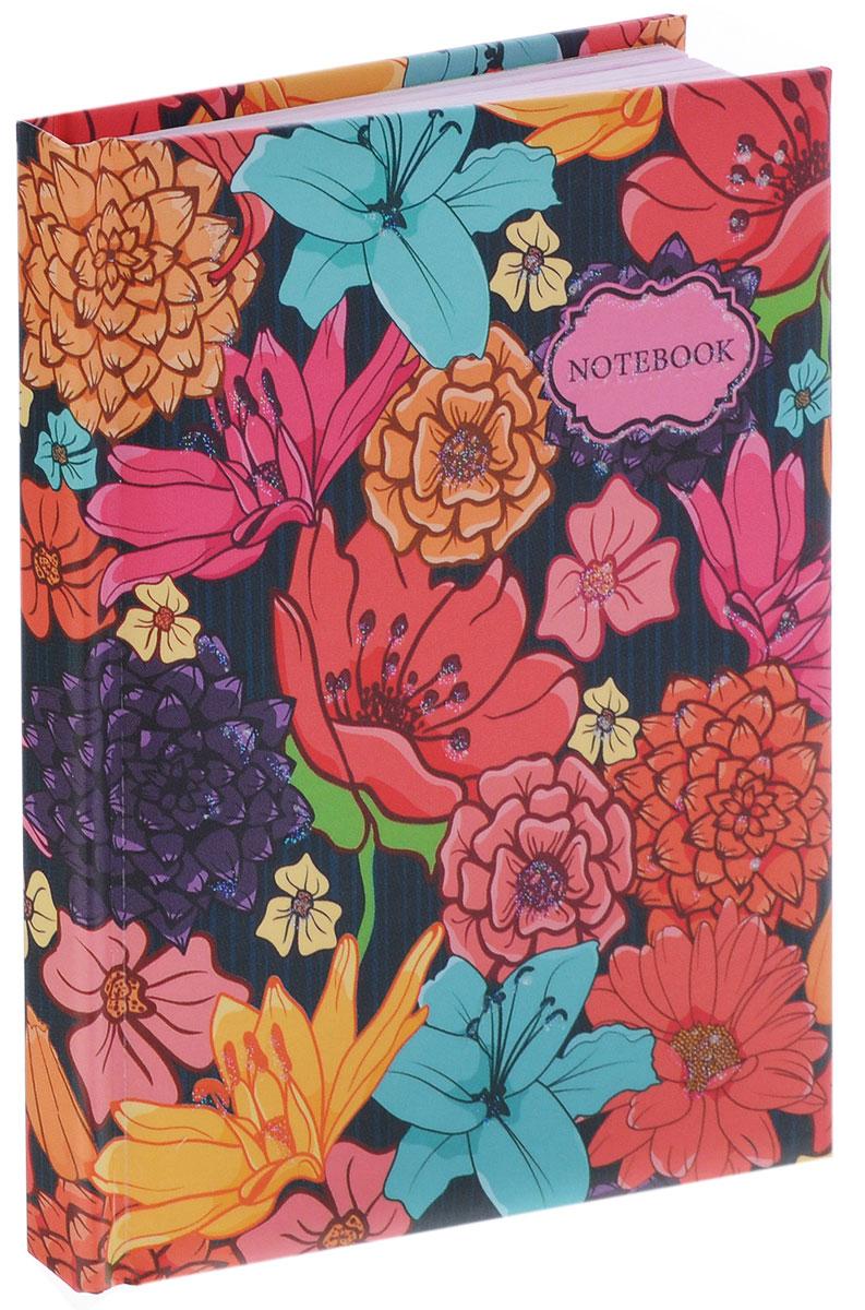 Listoff Записная книжка Цветочные мотивы 80 листов в линейкуКЗБ6801776Записная книжка Listoff Цветочные мотивы - важный атрибут современной женщины, необходимый для повседневных записей. Записная книжка содержит 80 листов формата А6 в линейку без полей. На обложке, выполненной из плотного картона с поролоновой подкладкой, изображен нежный рисунок в виде цветов. Блестки на обложке выделяют эту записную книжку из множества других. Внутренний блок изготовлен из высококачественной бумаги розового цвета. Книга для записей станет достойным аксессуаром среди ваших канцелярских принадлежностей. Она подойдет для любителей записывать свои мысли, делать наброски.
