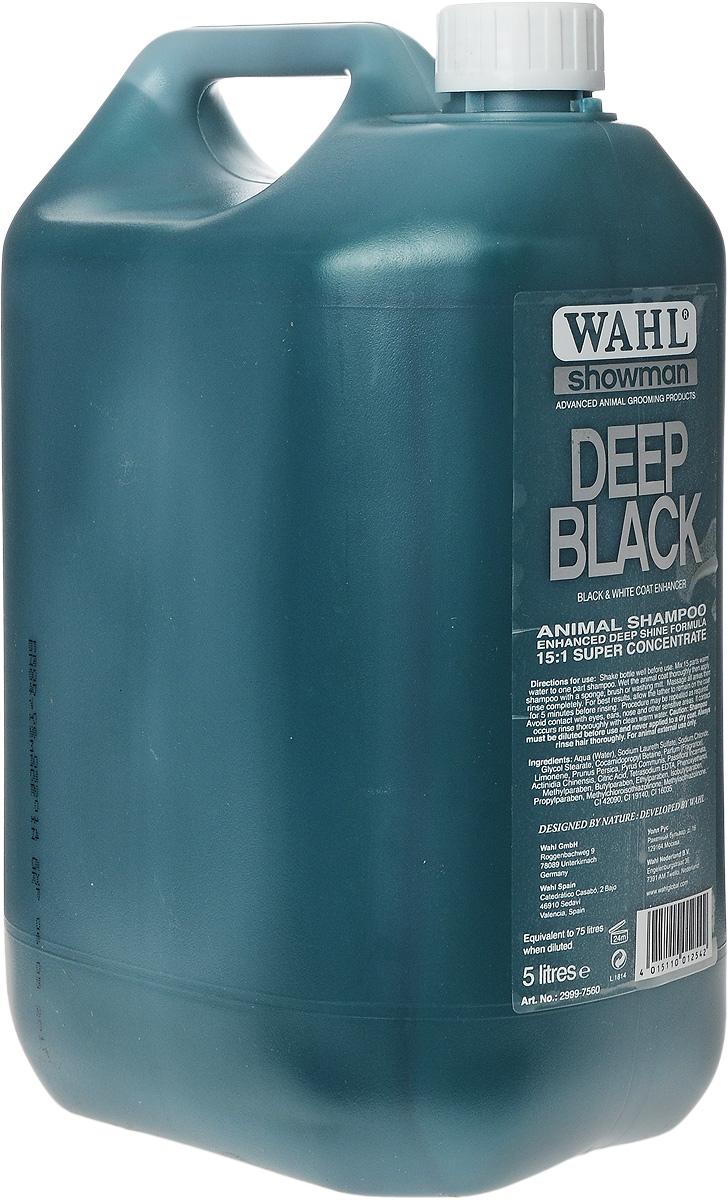 Шампунь для животных темных окрасов Wahl Deep Black, концентрированный, 5 л2999-7560Шампунь для животных темных окрасов Wahl Deep Black содержит в основе только натуральные ингредиенты, экстракты персика, груши, киви, страстоцвета. Освежает и восстанавливает черную шерсть. Удаляет серый оттенок. Придает яркость окраса. Эффективно очищает, удаляет грязь и жировые отложения. Подходит для любых домашних животных. Разводится в теплой воде в пропорции 1:15. Способ применения: Тщательно встряхнуть флакон. В отдельной емкости подготовить раствор: 1 часть концентрата и 15 частей теплой проточной воды. Наносить раствор на хорошо смоченную шерсть. Тщательно вспенить массирующими движениями и затем смыть. Для лучших результатов рекомендуется оставить пену на шерсти на 5 минут, а затем смыть. Избегать попадания в глаза, нос и на другие чувствительные зоны. При попадании раствора на указанные участки промыть их теплой водой.