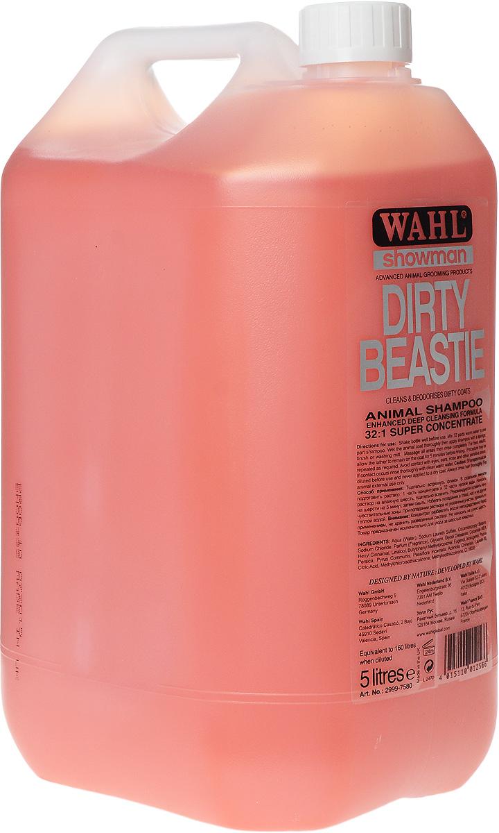 """Шампунь для мелких животных Wahl """"Dirty Beastie"""", концентрированный, 5 л"""