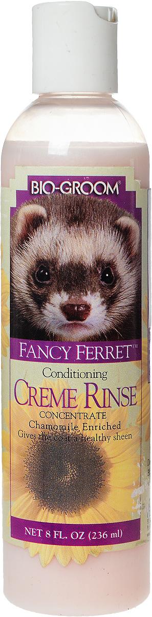 Кондиционер для хорьков Bio-Groom Fancy Ferret Cream Rinse, с ромашкой, 236 мл73008Кондиционер Bio-Groom Fancy Ferret Cream Rinse с экстрактом ромашки специально разработан для хорьков. Экстракт ромашки стимулирует и восстанавливает шерсть, придает ей ослепительный блеск и исключительный лоск, питает кожу. Прекрасно кондиционирует. Средство усиливает яркость всех окрасов, в том числе белого. Специально разработанная формула не содержит химически активных веществ и абсолютно безопасна для применения. Кондиционер легко смывается, имеет сбалансированный pH, биологически разлагаемый. Гарантирует гладкость, чистоту и легкое расчесывание шерсти. Способ применения: После обработки шампунем и промывки нанесите кондиционер и тщательно помассируйте, смойте слегка теплой водой. Кондиционер может быть разведен в пропорции 1 к 4 частям теплой воды в зависимости от состояния кожи и шерсти.