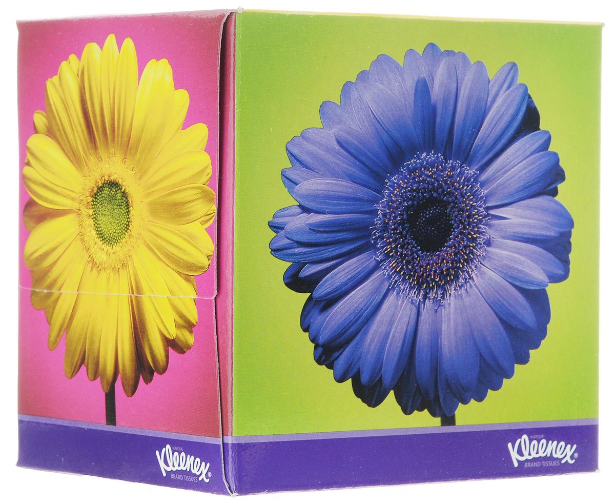"""Салфетки универсальные Kleenex Classic """"Цветы"""", двухслойные, 21,6 х 21,6 см, 50 шт"""